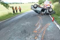 Vážná nehoda se stala ve Vápenné.