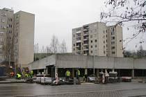 Parkovací dům v Šumperku.