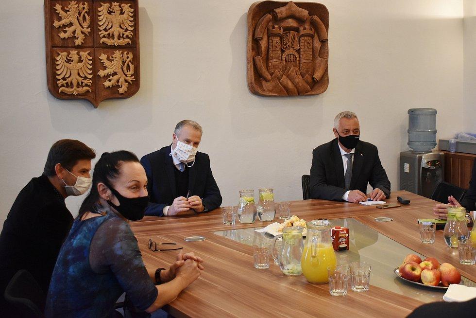 Výjezd hejtmana a členů Rady Olomouckého kraje na Šumpersko a Jesenicko.