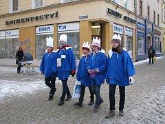 Zahájení tříkrálové sbírky v centru Šumperka