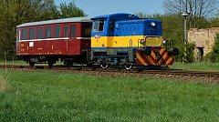Mašinka T211. O letních víkendech a svátcích bude vozit turisty na trati z Bruntálu do Malé Morávky