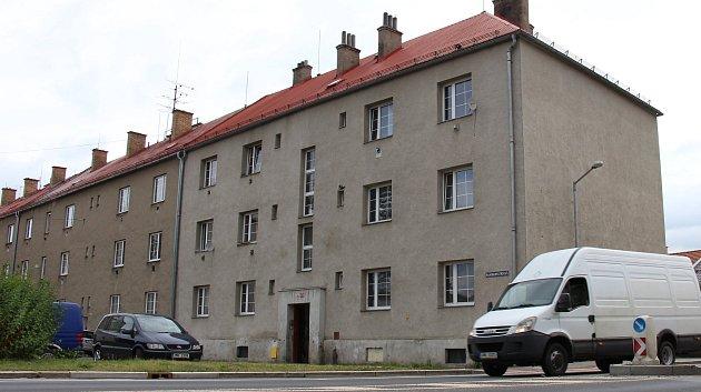 Dům číslo 44 v Banskobystrické ulici v Šumperku určený k demolici.