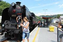 Historická jízda vlaku mezi Moravskou Třebovou a Hanušovicemi 8.7.2017.