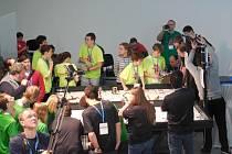 Jesenický tým CO3 na semifinále First Lego League v maďarském Debrecenu.