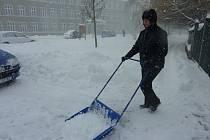 Sníh v Šumperku (to je v únoru fakt divné, že?)