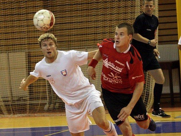 Snímky z utkání Delty s Tangem Brno, vpravo je Lukáš Okleštěk