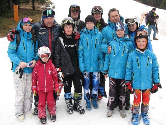 Výprava šumperských lyžařů.