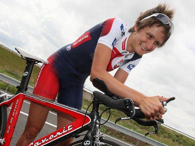 Martina Sáblíková (na ilustračním snímku) pojede v Šumperku cyklistickou časovku
