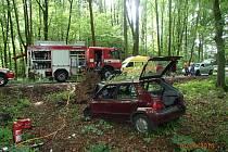 Nehoda osobního vozu mezi Kamennou a Veleboří na Zábřežsku.