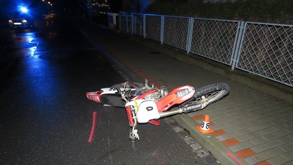 Havárie motocyklisty v Zábřehu