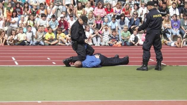 Ukázka policejní práce