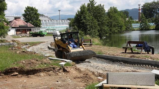 Výstavba rekreační zóny v areálu Benátky