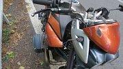 Havárie motocyklu u Štítů
