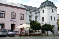 Levadulová kavárna na horním náměstí v Zábřehu.