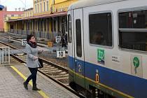 Vlak firmy Arriva na trati ze Šumperku do Koutů nad Desnou
