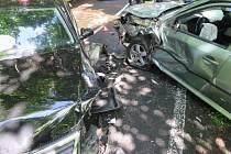 Dopravní nehoda v Kopřivnici.