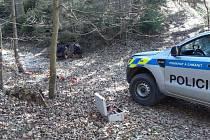 Nález dělostřeleckých min v lese u Bludova