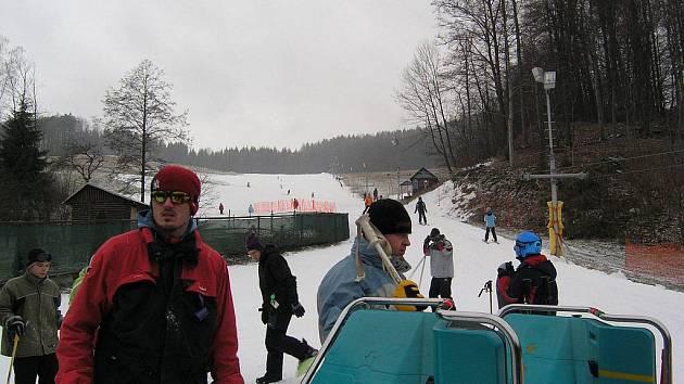 Aktuální snímek z lyžařského areálu v Loučné nad Desnou