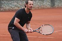 Karel Plášek na tenise v roce 2011
