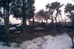 Požár chatky rodiny Kosteleckých