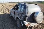Nehoda opilého řidiče Suzuki Vitara u Újezdu na Mohelnicku