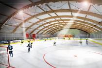 Podoba nízkonákladového zimního stadionu podle studie Českého svazu ledního hokeje. Takto by mohl vypadat i zimní stadion v Jeseníku.