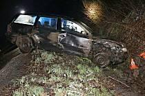 Tragická nehoda čtyřiačtyřicetiletého řidiče passatu u Žulové - sobota 3. dubna