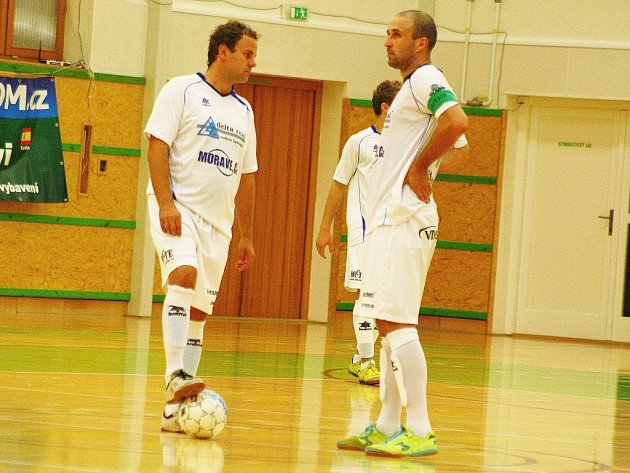 Petr Navrátil a Ondra Málko, nyní už minulos futsalové Delty Real.
