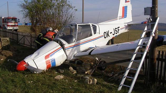 Letadlo po havárii