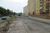 V Temenické ulici je částečná uzavírka kvůli stavebním pracem.