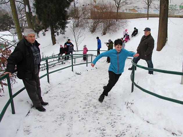 Welzlův běh do zámecké brány v sobotu 14. ledna v Zábřehu