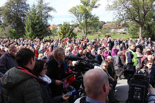 Prezident Miloš Zeman na návštěvě Mikulovic na Jesenicku