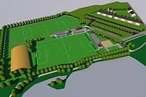 Vizualizace sportovního areálu v Postřelmově