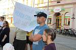 Demonstrace proti Babišovi na Točáku v Šumperku - 11. 6. 2019