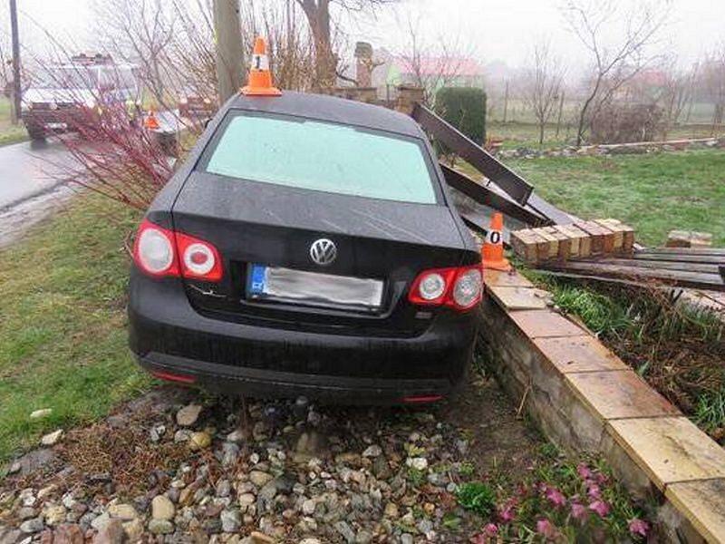 Havárie řidičky volkswagenu v Javorníku