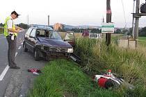 Snímky z dopravní nehody u Bratrušova