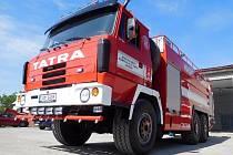 Nový vůz javornických hasičů CAS 32 na podvozku Tatra 815.