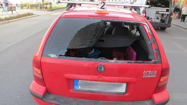 Nehoda na náměstí Osvobození v Zábřehu
