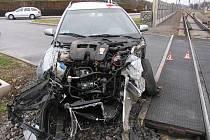 Nehoda na železničním přejezdu v Postřelmově 12. ledna 2011