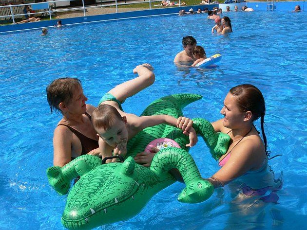 Bazén ve Velkých Losinách.