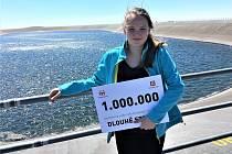 Miliontým návštěvníkem Přečerpávací vodní elektrárny Dlouhé Stráně se stala školačka Anička z Nového Jičína.