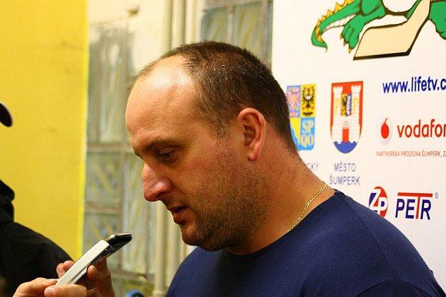 Kouč Draků Radek Kučera po utkání