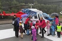 Otevření heliportu v Jindřichově.