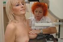 Takhle vypadá mamografické vyšetření