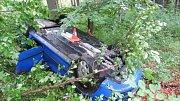Nehoda u Bělé pod Pradědem 20.8.2017