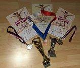 Reprezentantky klubu SK - D.V. Šumperk si z mistrovství republiky přivezly řadu úspěchů.