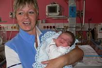 Nalezenec Kačenka na novorozeneckém oddělení Šumperské nemocnice v pondělí 4. července 2011