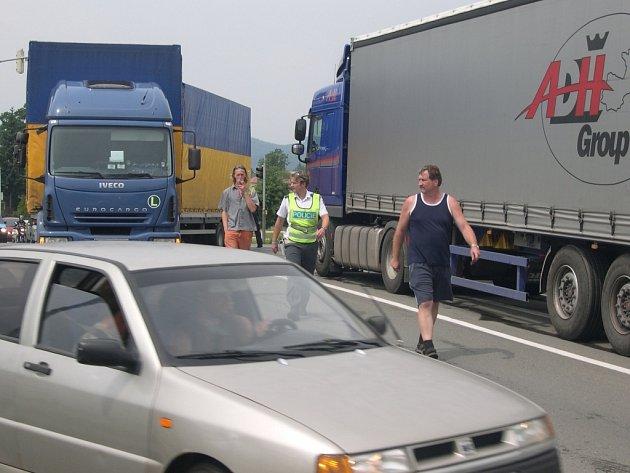 Nehoda na Žerotínově ulici