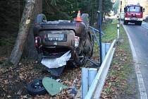 Nehoda z 21. listopadu na Jesenicku.