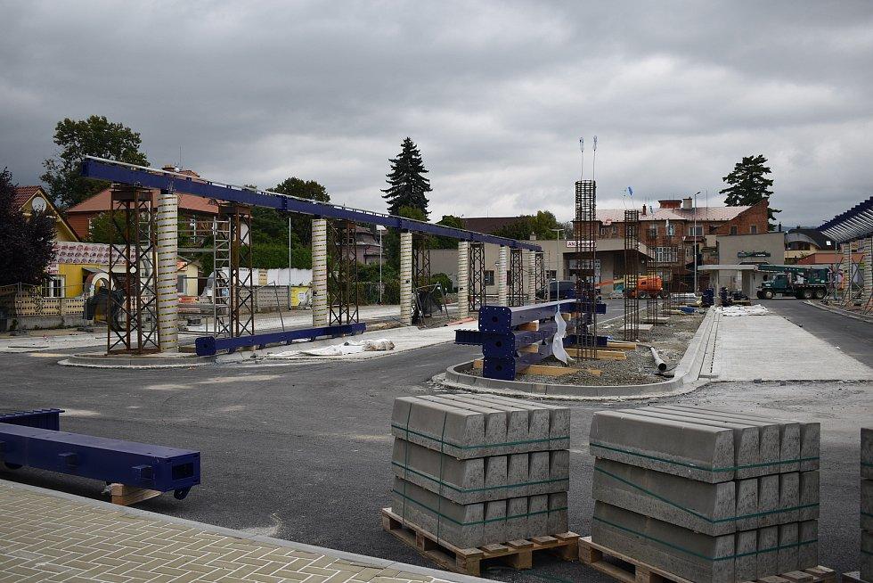 Rekonstruované autobusové nádraží v Šumperku ve čtvrtek 24. září.
